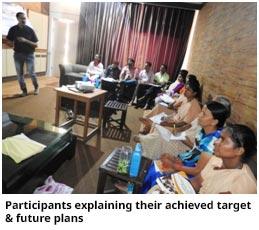Participants explaining their achieved target & future plans